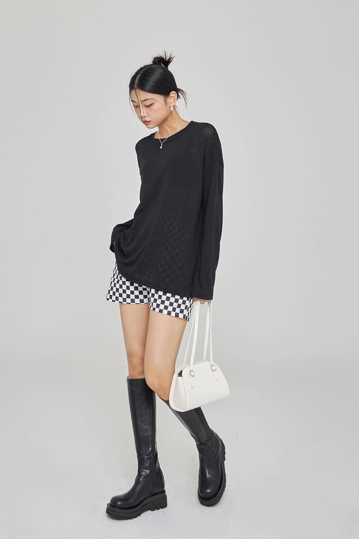 Basic linen knit T-Shirt