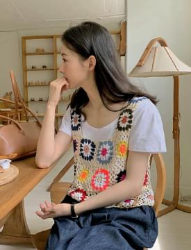 Daisy Crochet Knitwear Bustier
