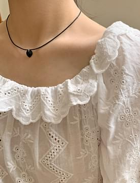 Modern Heart Layered Necklace