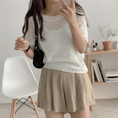 Loose Yeoli Fit Short Sleeve Knitwear