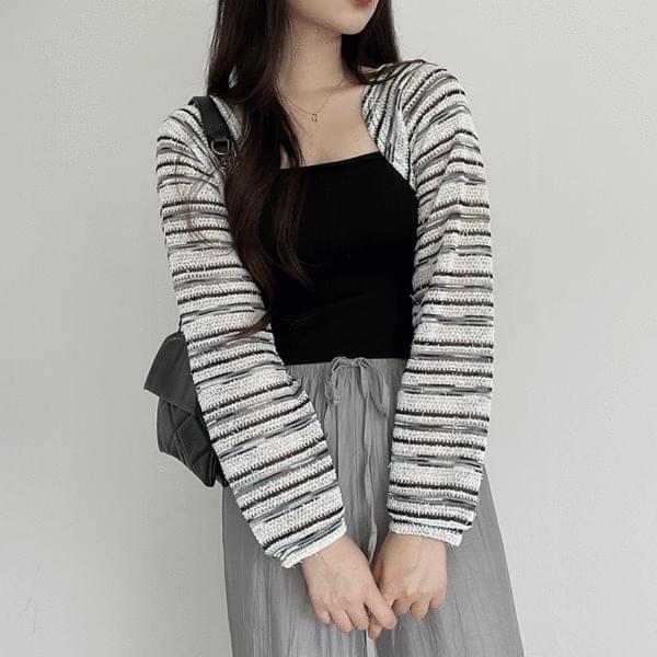 striped bolero cardigan