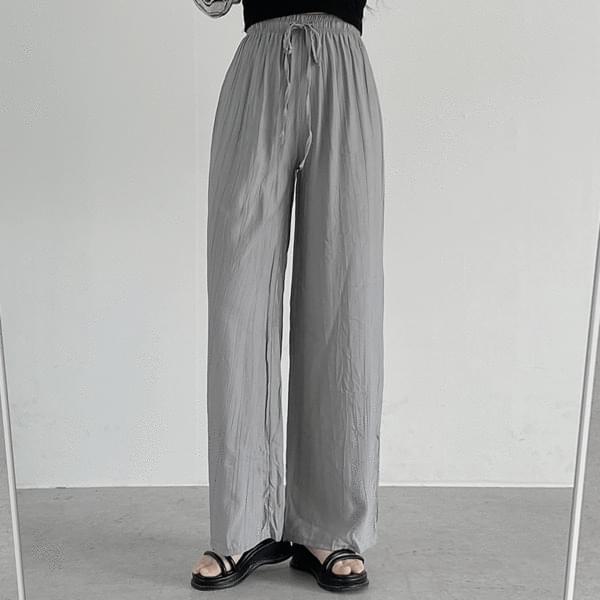 wrinkled banding pants 長褲