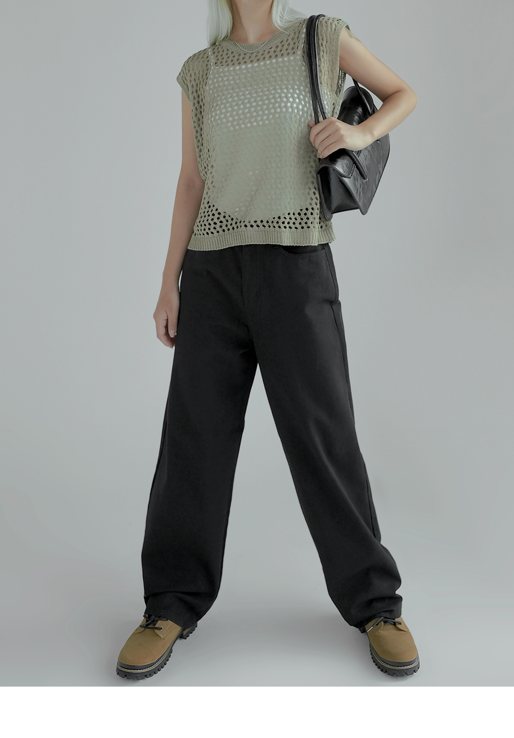 Connie Net Sleeveless Knitwear