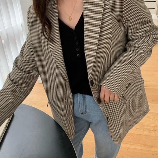 door hound check midi-jacket