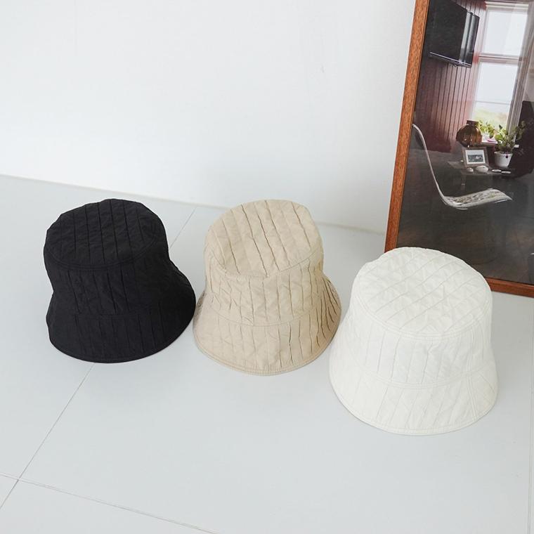 Basic Simple Pintuck Bucket Hat