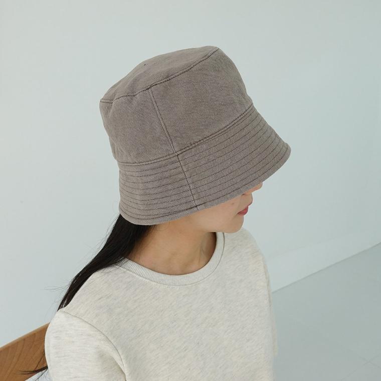 Stitched plain cotton bucket hat