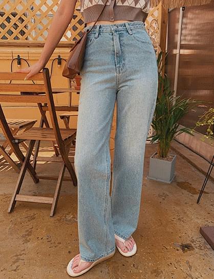 Kai Semi-Wide Denim Pants