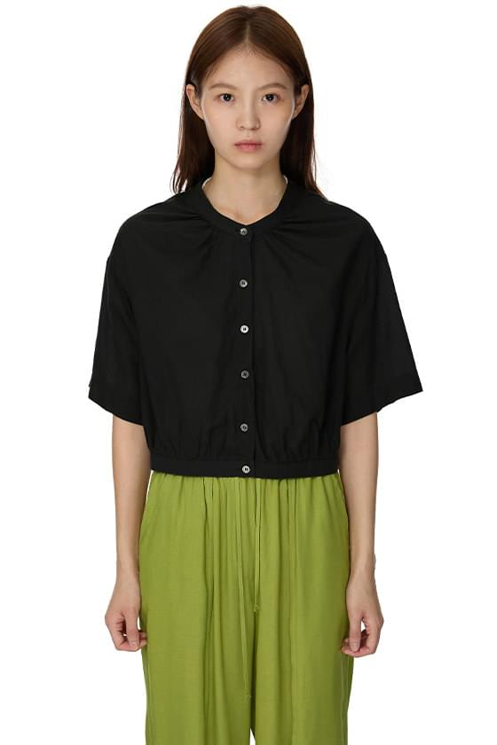swing cropped blouse