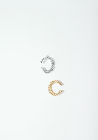 twisted simbol ear-cuff
