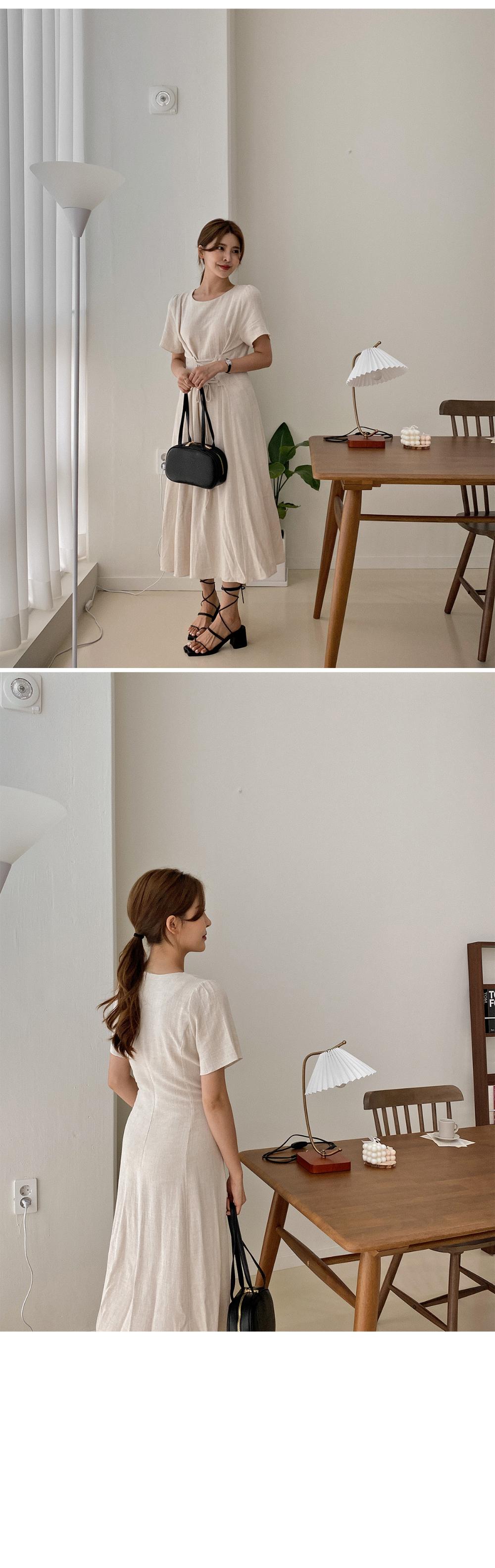 Lou Linen Corset Dress - 2color