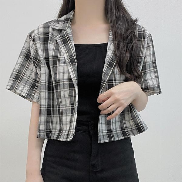 Paiz, summer cropped check jacket