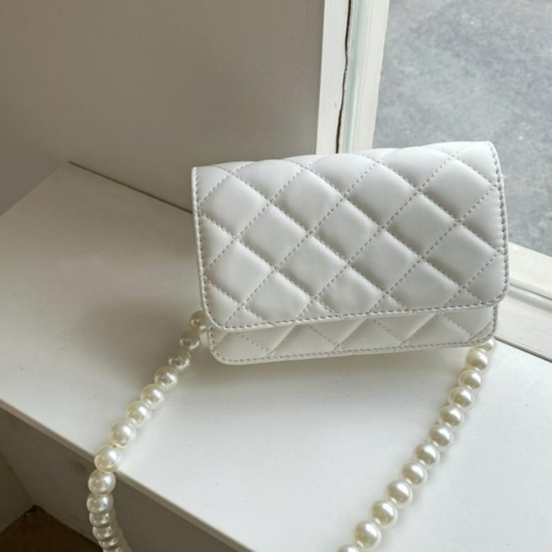 Pearl Chain Quilted Fashion Cross Shoulder Bag