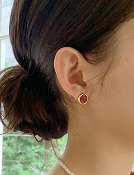 Circle Gemstone Earrings