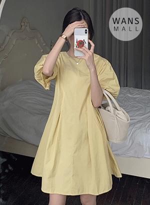 op5468 Arring Big Puff Mini Dress