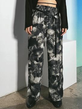 tie-dye toms wide pants