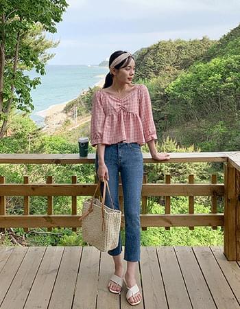 Lovemore check blouse