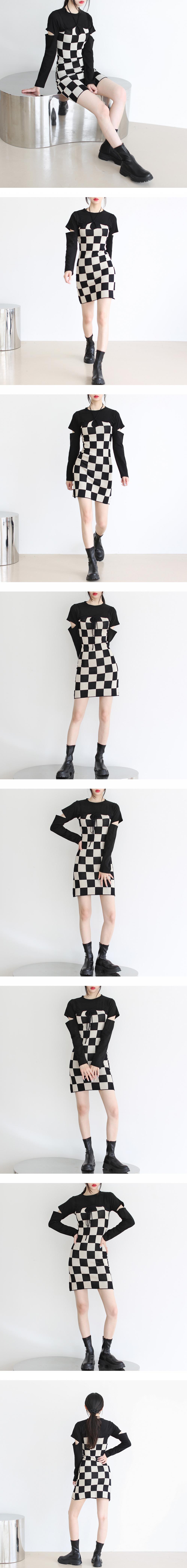 Liar Checkerboard Mini Dress