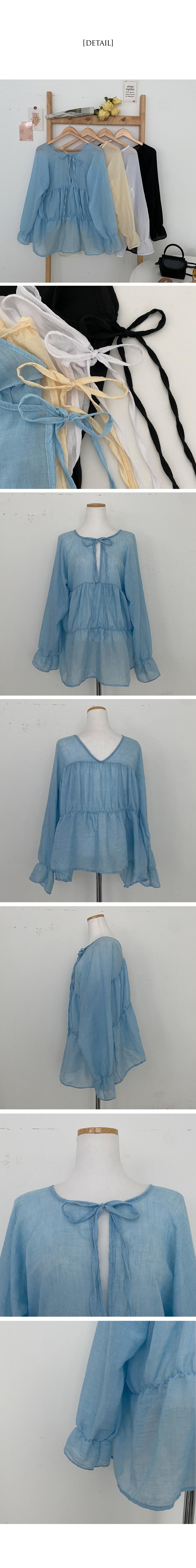 Mela julie fit cancan gauze blouse