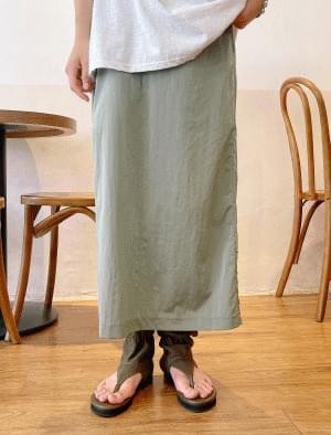 Luke Backslit Long Skirt