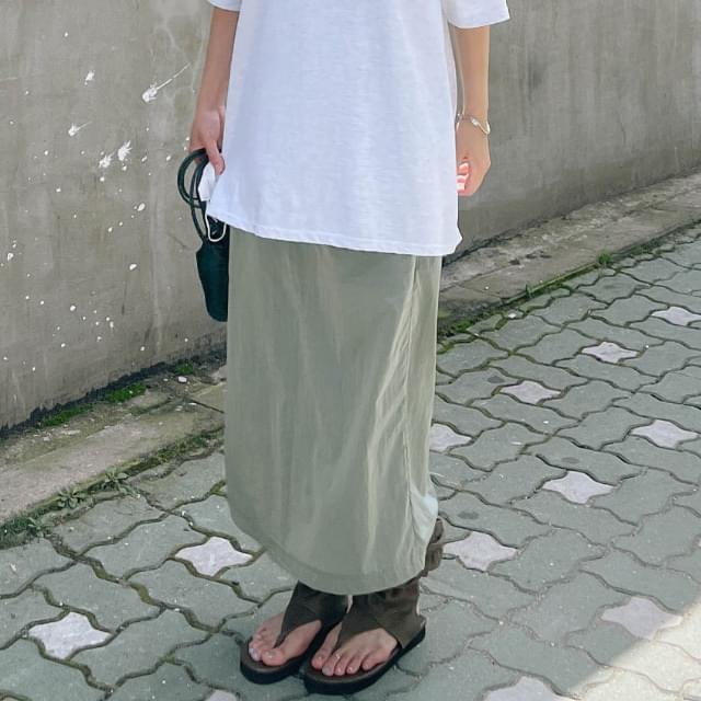 Luke Backslit Long Skirt 裙子