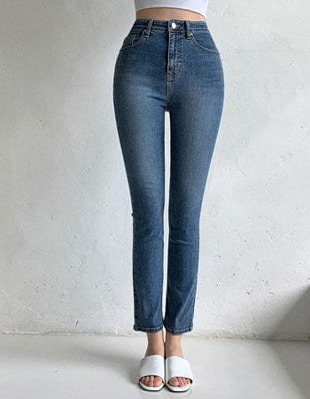 183 banhayi in Faded banding semi Flared denim pants