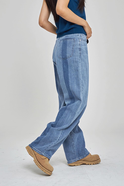 Back taping point denim Pants