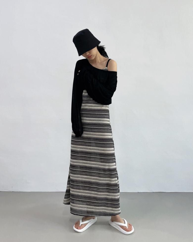 Elon Stripe Long Dress