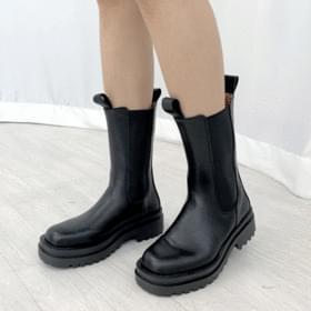 Chelsea Banding Whole Heel Boots