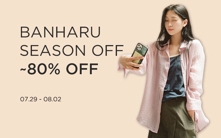 BANHARU SEASON OFF ~80% OFF