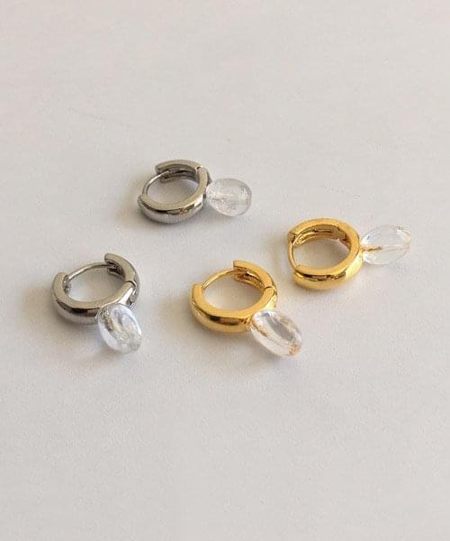 round glass earring