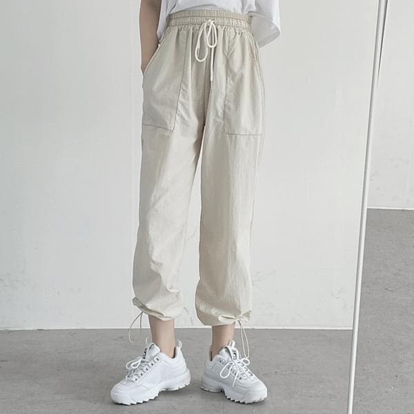 stitch string jogger pants 長褲