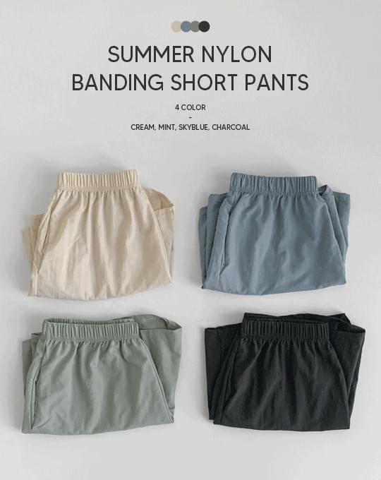 Summer rustic banding short pants - 4 color