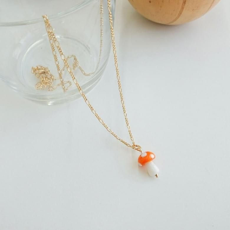 Cutie Mushroom Color Fashion Necklace