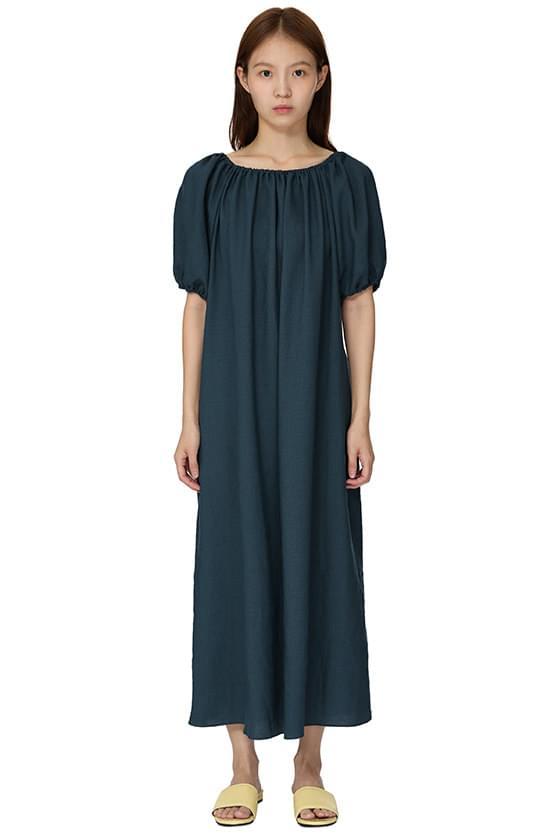 Lea off-the-shoulder long dress