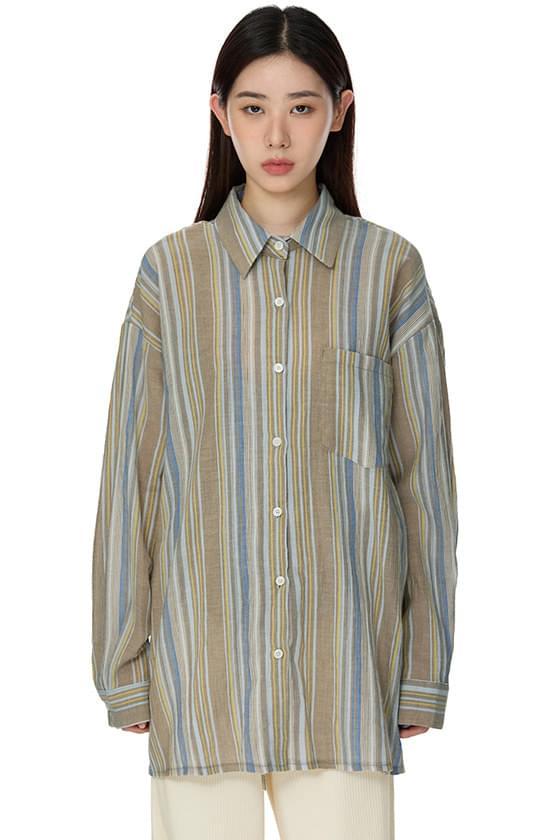 Rustic Striped Shirt Set