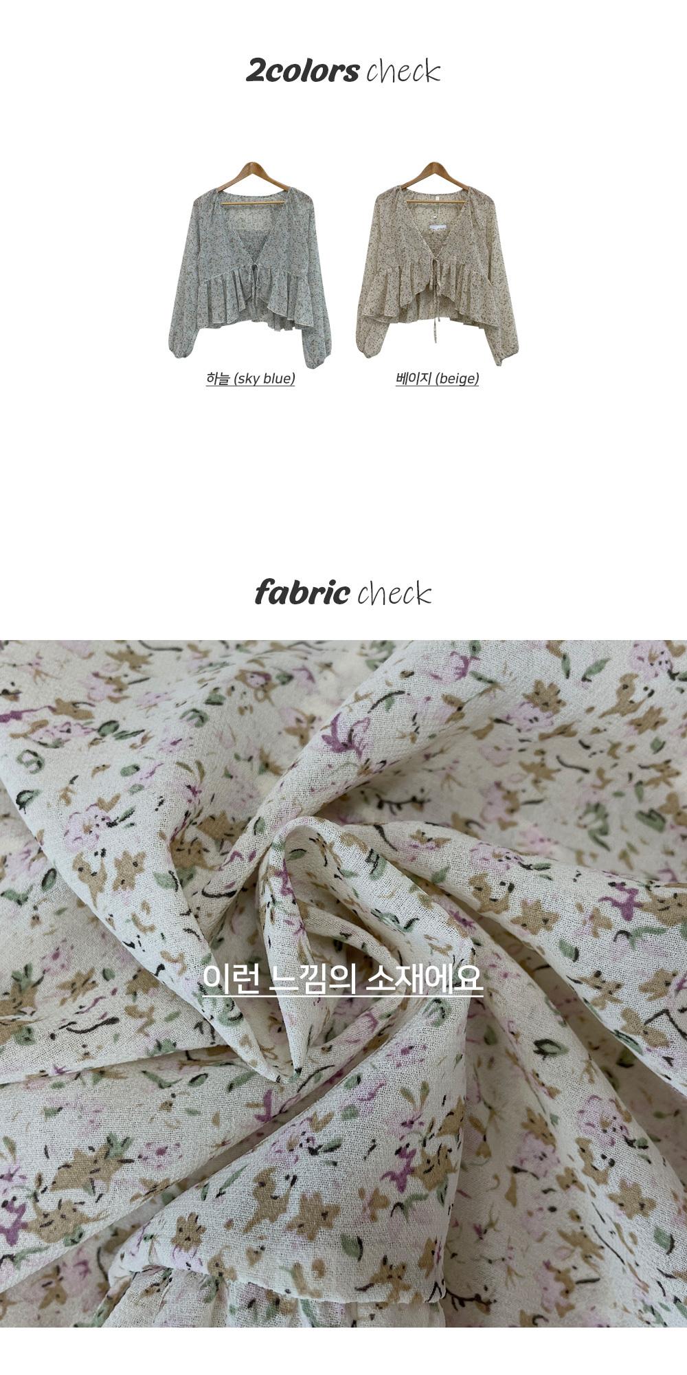 Vintage flower, chiffon cardigan set