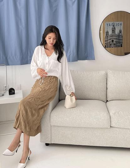knee pocket string blouse