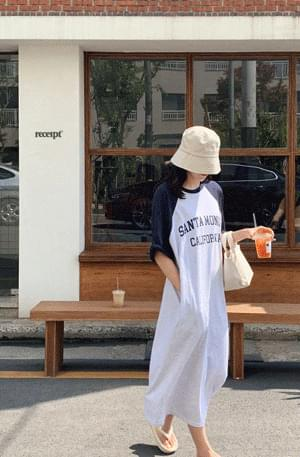 《One-mile look/camping look recommendation》 'MONICA' color matching printing Dress