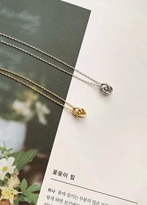 rope twist ring necklace