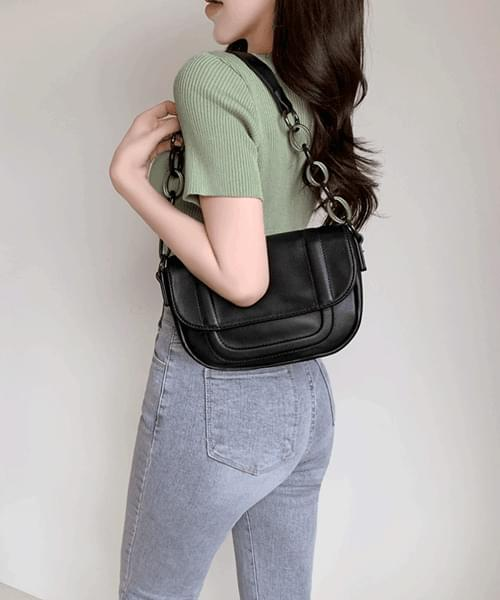 edgy bag half moon chain strap shoulder bag bag