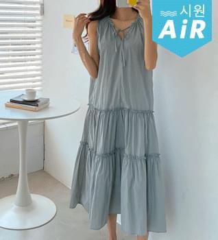 Rustic Ruffle Long Dress #38038