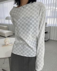 Checker Summer See-through Knitwear