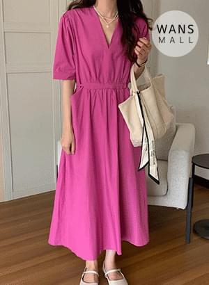 op5506 Lifty V-Neck Long Dress