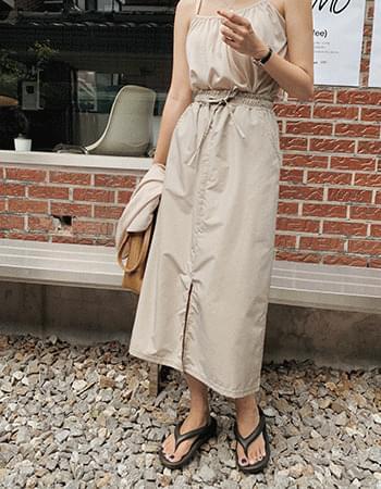 rustic washer long skirt