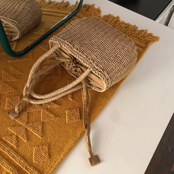 Pouch Sok Rattan Basket Bag
