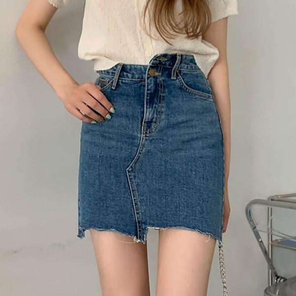 Feod* Unfooted Two Button Denim Skirt