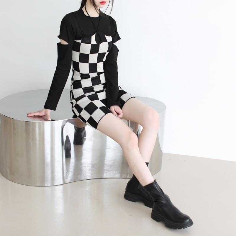 Liar Checkerboard Mini Dress 迷你短洋裝