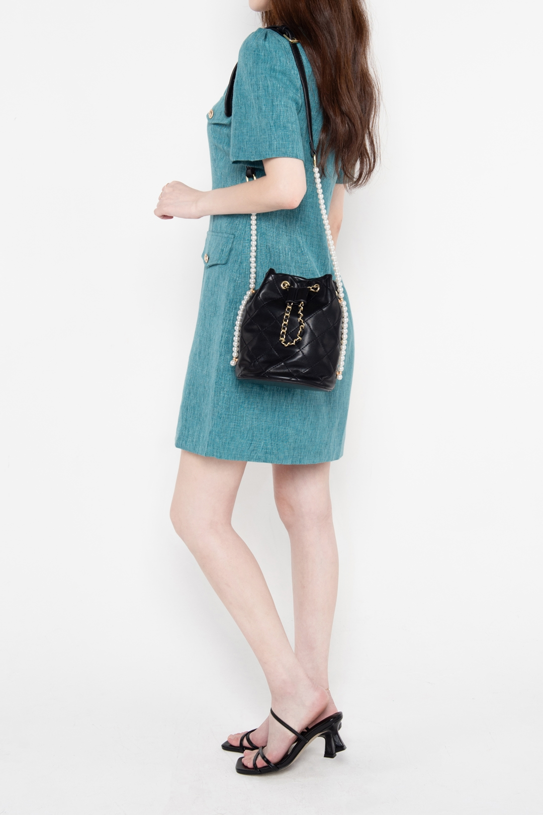 Button-Front Mini Dress