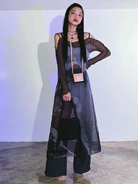 See-Through Tess Layered Long Dress