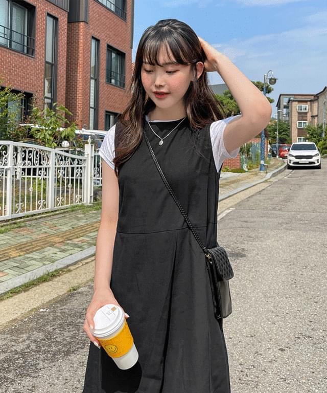Margarine Wrap Sleeveless Long Dress